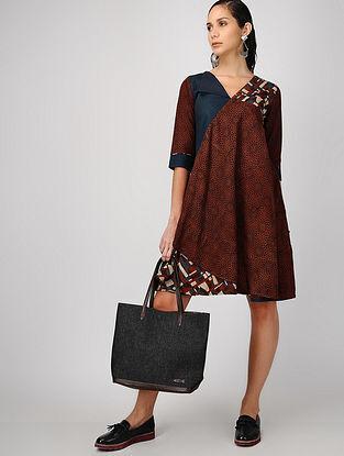 Madder-Indigo Ajrakh-printed Cotton Dress