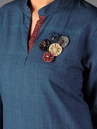 Blue - Red Ajrakh Detailed Cotton Kurta By Jaypore