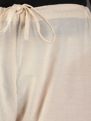 Ivory Tie - Up Waist Cotton Pants By Jaypore