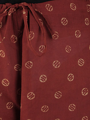 Red Ajrakh Tie - Up Waist Cotton Pants By Jaypore