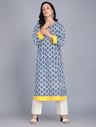 Indigo Bagru-printed Cotton Kurta