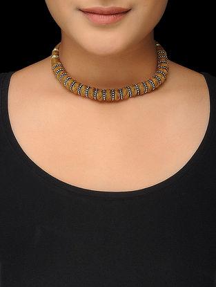 Brown Thread Silver Necklace