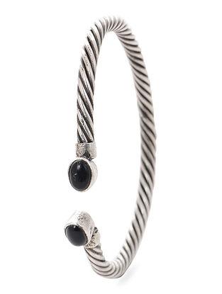 Black Tribal Silver Cuff