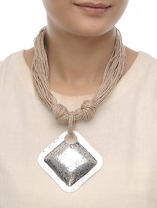 Beige Jute Necklace