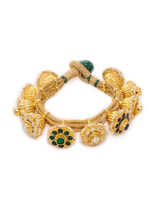 Multicolored Gold Plated Bracelet