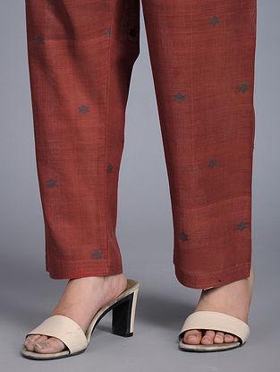 Madder Tie-up Waist Handloom Cotton Pants