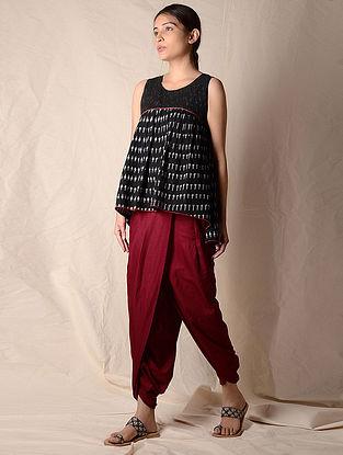 Maroon Elasticated Waist Dhoti Pants by Jaypore