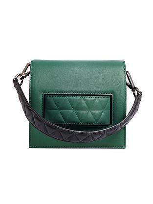 Green Handcrafted Genuine Leather Shoulder Bag