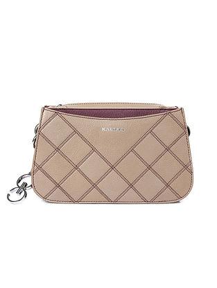 Grey Handcrafted Genuine Leather Shoulder Bag