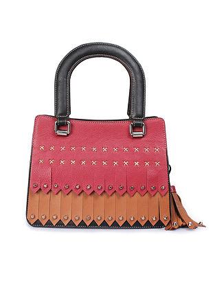 Multicolored Handcrafted Genuine Leather Handbag cum Sling Bag