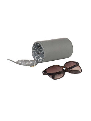 Grey Leather Spectacle Cover