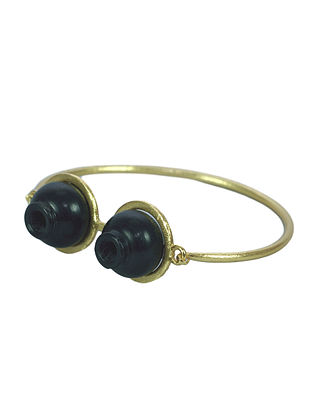 Black Gold Plated Handcrafted Cuff