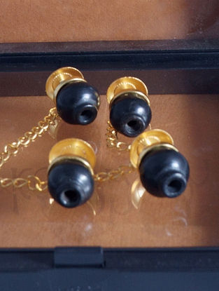 Black Gold Plated Handcrafted Chain Buttons