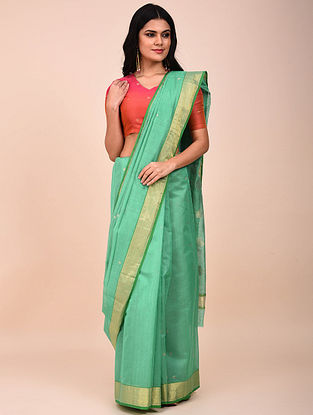 Green Handwoven Chanderi Saree