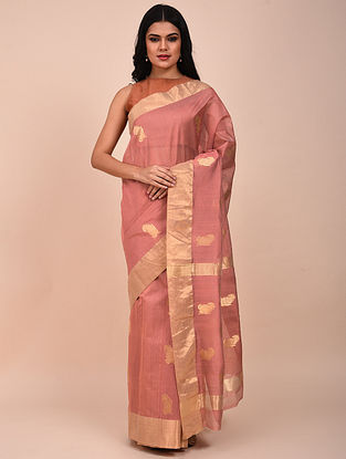 Pink Handwoven Chanderi Saree
