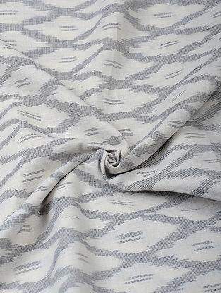 Ivory-Grey Handloom Ikat Cotton Fabric