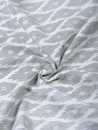 Grey Handloom Ikat Cotton Fabric