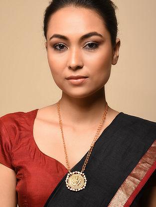 Gold Tone Kundan Silver Necklace