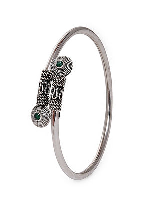 Green Tribal Silver Cuff