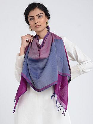 Blue-Purple Silk Cotton Stole