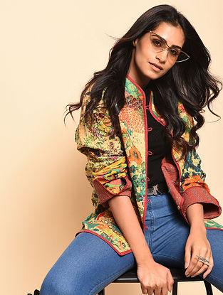 Hozana Multicolored Kantha-Embroidered Cotton Reversible Jacket