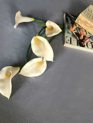 Miukasha Grey-White Cotton Single Dohar (90in x 50in)