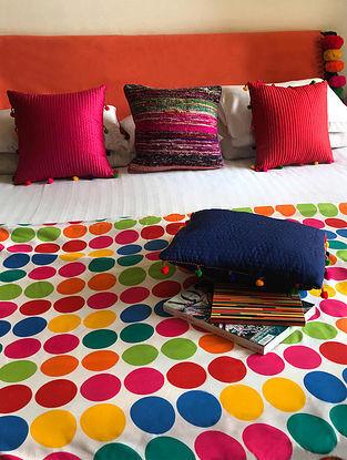 Mitsuo Multicolored Cotton Silk Queen Size Dohar (90in x 84in)