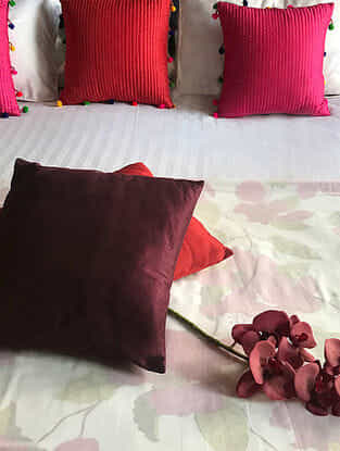 Michiko Multicolored Hand Block-printed Cotton Silk Queen Size Dohar (90in x 84in)