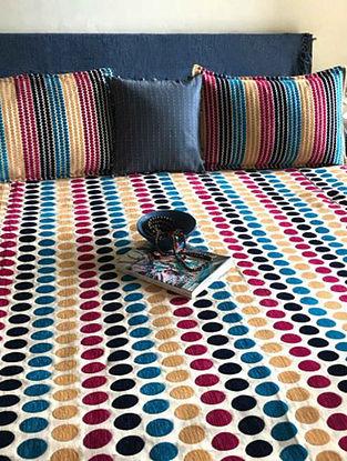 Jordana Multicolor Cotton and Polysilk Double Bedcover Set (Set of 3)