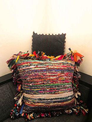 Eavan Multicolor Upcycled Dhurrie Fabric Cushion Cover