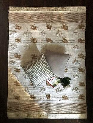 Copenea Savanna Off-white and Beige Handwoven Cotton Rug (6ft x 4ft)