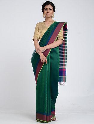 Green-Blue Silk Cotton Saree