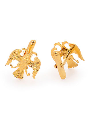 Gold Tone Gold-plated Silver Cufflinks