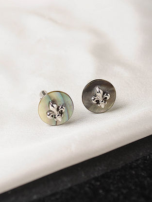 Mother of Pearl Victorian Silver Cufflinks