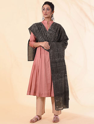 Charcoal Cotton Natural Dyed Dupatta