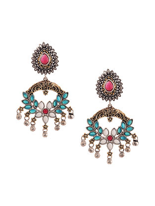 Multicolored Dual Tone Earrings