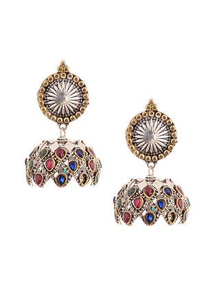 Multicolored Dual Tone Jhumki Earrings