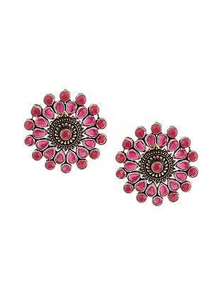 Red Dual Tone Earrings