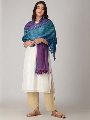 Blue-Purple Merino Wool Shawl