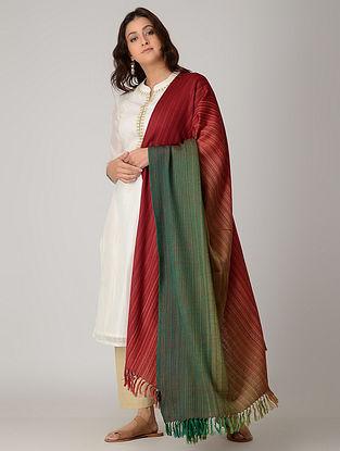 Red-Green Merino Wool Shawl
