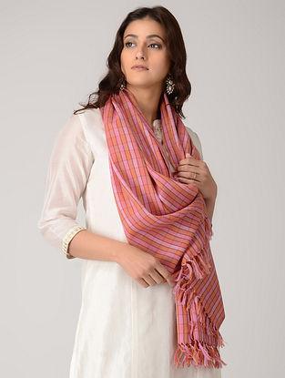 Peach-Pink Merino Wool Stole