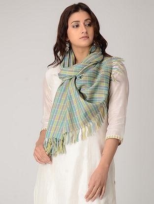 Green-Purple Merino Wool Stole