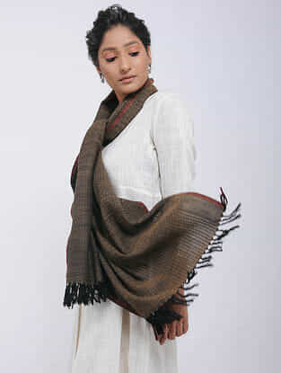 Brown Merino Wool Stole