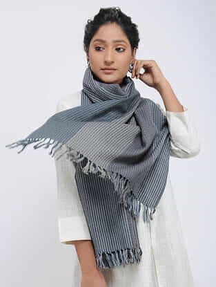 Grey Merino Wool Stole