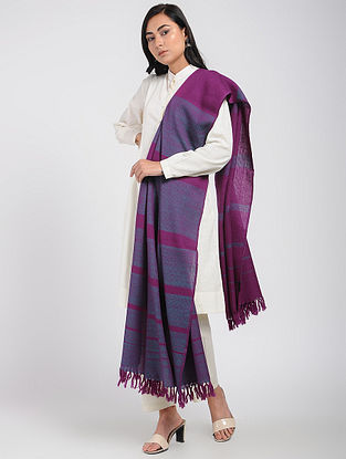 Blue-Purple Merino Wool Shawl