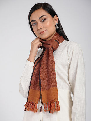 Orange Merino Wool Scarf