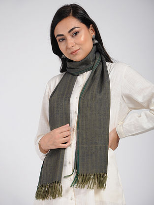 Grey Merino Wool Scarf