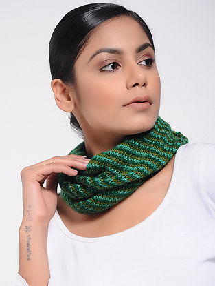 Green Wool Neck Warmer