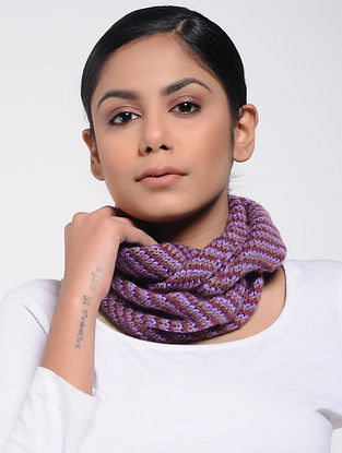 Purple-Maroon Wool Neck Warmer