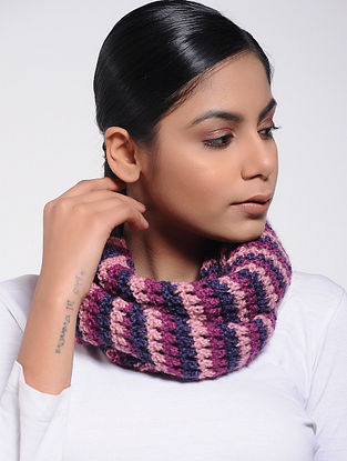 Pink-Blue Wool Loop